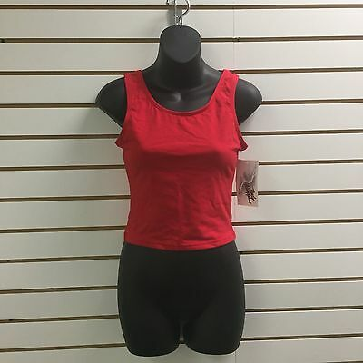 Body Wrappers Red Dance Shirt, Size Adult Medium