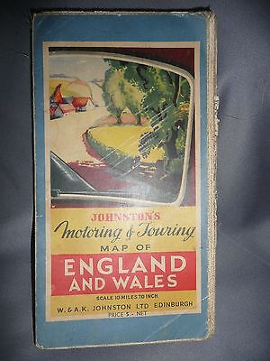 collectors  vintage map of England and Wales