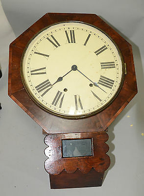 Hyper-Rare Antique Chauncey Jerome 8-Day Double Fusee Wall Clock, Project Clock