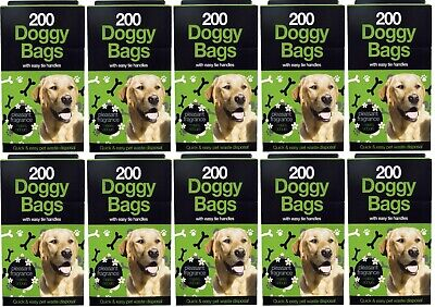 2000 X DOGGY BAGS Scented Pet Pooper Scooper Bag Dog Cat Poo Waste Poop