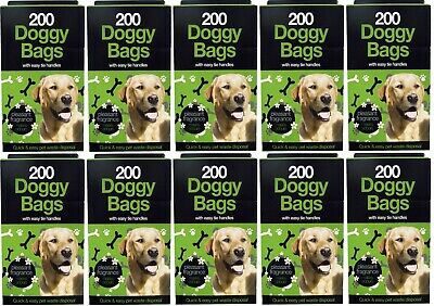 2000 X DOGGY BAGS -Strong Scented Pet Pooper Scooper Bag Dog Cat Poo Waste Poop
