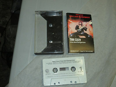 Thin Lizzy - Live and Dangerous (Cassette, Tape) WORKING Great Tested