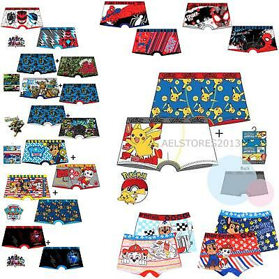 Character Boxer short Boxers 2 Pack Underwear Pants Paw Patrol Pokemon TMNT 2-12