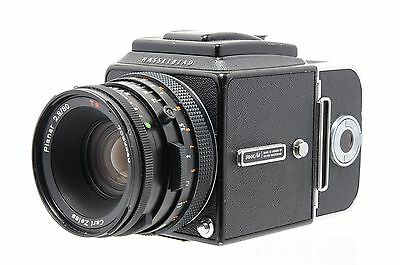 Used Hasselblad 500C/M with 80mm f2.8 CF lens, WLF and A12 back (Box, SH19886)
