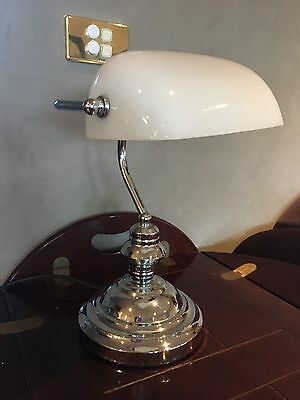 Classic Bankers Desk Lamp On cord Switch Vintage Table Light