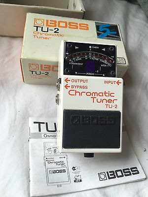 Boss TU-2 Tuner Pedal And Power Supply With Cables