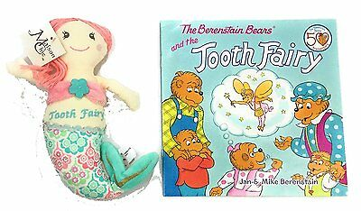 Gift Set Maison Chic Coral the Mermaid Tooth Fairy Pillow and the Berenstain Bea