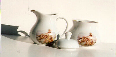 Irish Setter Cream Jug Pitcher and Sugar Bowl Set Made in England LAST ONE!