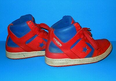 Converse CONS WEAPON Mid Red Blue White Leather Shoes Size 7 Kids 144546C
