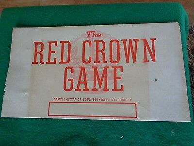 1937 Standard Oil Company Red Drown Board Game Advertising Gas Oil