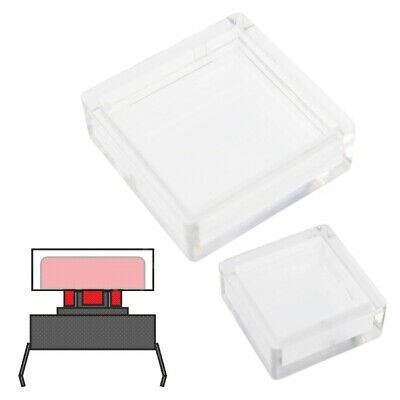 Clear Covers for Square Cap Tactile Switches - For A14 & A66 Caps 10-200Pcs