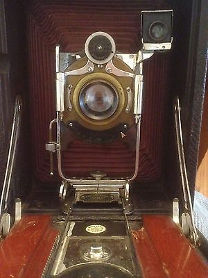 RARE Kodak No. 4A Model B Folding Camera Bausch & Lomb Lens Rapid Rectilinear !