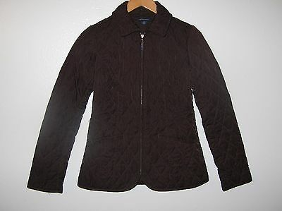 Tommy Hilfiger sz M slim Quilted Zip Front Long Sleeve Jacket Outerwear (c