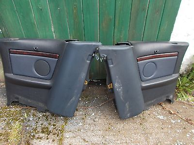 Audi 80 Cabriolet Blue Leather Door Cards & Rear 1/4 Panels Interior
