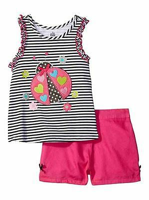 Kids Headquarters Toddler Girls Printed Top 2pc Short Set Size 3T