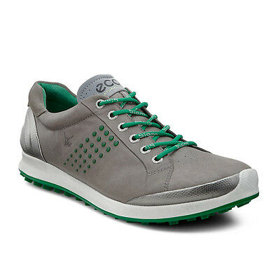 NEW Mens ECCO Biom Hybrid 2 Golf Shoes Warm Grey/Pure Green - Choose Your Size!