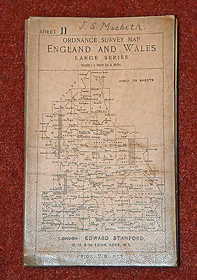 Ordnance Survey Map England & Wales Large Series 11- Durham 1907?