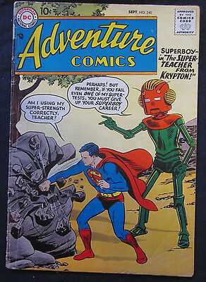 ADVENTURE COMICS #240 1957 DC Comics SUPERBOY VG/FN 5.0 Silver Age GREEN ARROW
