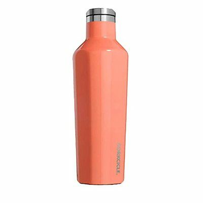Corkcicle Triple Insulated Water Bottle and Thermos 16 oz Peach Echo