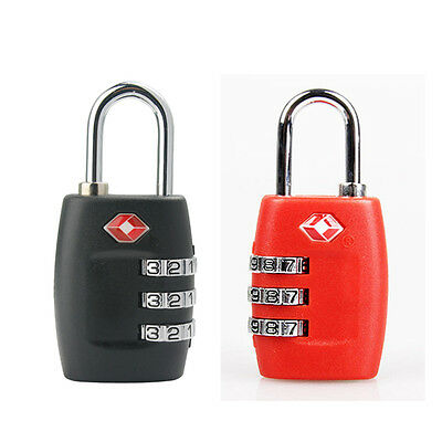 KS YiF 2pcs Security Luggage Padlock 3-Digit Combination Password Lock Padlock (