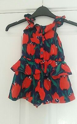 Next baby girls floral playsuit 12/18 months
