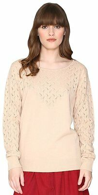 (TG. Large) Pepa Loves 107978, Pullover Donna, Beige (Cream), 46