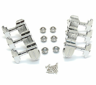 150C Grover Chrome Imperial 3x3 Deluxe Jazz Box Archtop Guitar Step Tuners