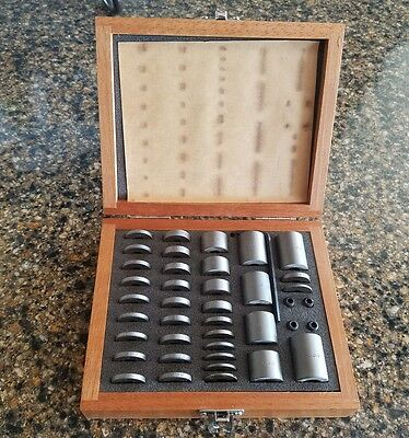 41 Piece Round Space Block Set with pins  in a Wooden Case