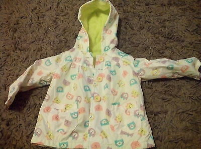 girls coat 12-18 months rain mac lined
