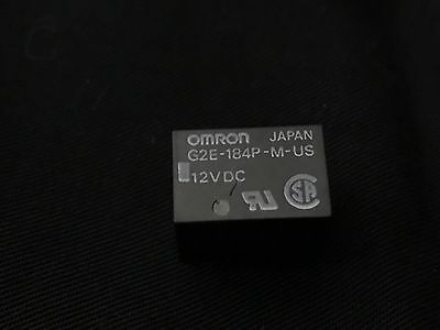 OMRON RELAY G2E-184P-M-US MINIATURE SINGLE POLE RELAY WITH 12V DC. 474 Relays