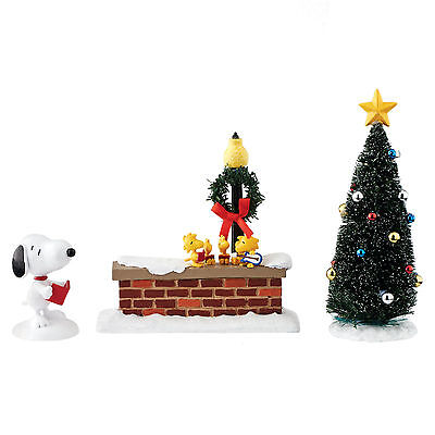 Dept 56 Peanuts Village Snoopy & Woodstock Christmas Caroling Set 4051746 NEW