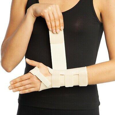 Wrist Support Hand Brace Splint Breathable Carpal Tunnel Arthritis Sprain Beige