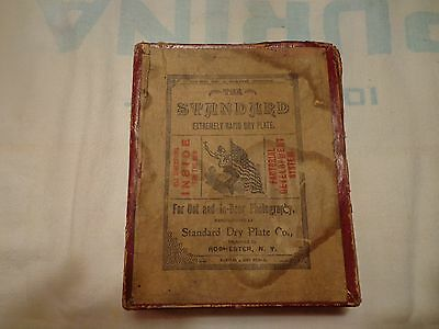 Antique Standard Photographic Camera Dry Plates in Box