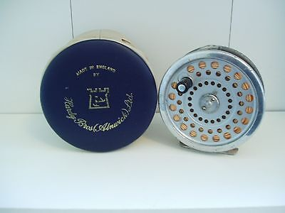 """HARDY MARQUIS SALMON No 1 FISHING REEL 3 7/8"""" WITH CASE"""