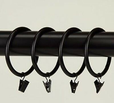 WOW! New 10-Pack 2.5-in Steel-Constructed Durable Curtain Rings Black