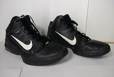 NIKE AIR MAX EFFORT TR TRAINERS Pre-Owned MEN'S SIZE 15 BLACK/WHITE FLYWIRE