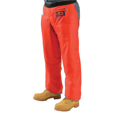 Elvex JE-9033 Orange Nylon Chainsaw Safety Chaps Industrial Pants Bottoms