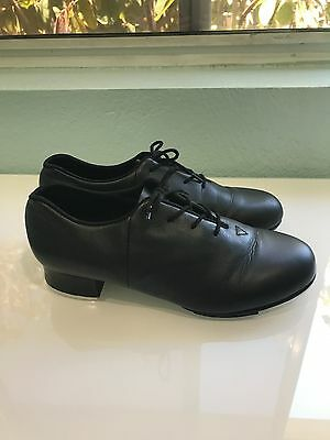 "BLOCH ""Tap Flex"" Black Leather Tap Shoes S0388L - Size 8M"