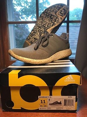 Adidas Pure Boost 2 M Size 11 Grey White Running
