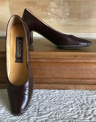 Vintage Boutique Julianelli Made Italy Brown Leather Heels Shoes Sz 6 N
