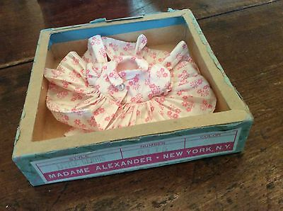 VINTAGE MADAME ALEXANDER LITTLE GENIUS Original Tagged  Pink dress OUTFIT & Box