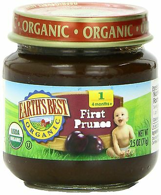 Earth's Best Organic Stage 1 Prunes 2.5 Ounce Jar (Pack of 12)