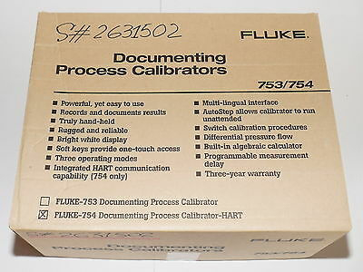 Fluke 754 Documenting Process Calibrator W Hart Instrument New In Box
