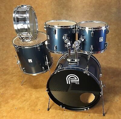 Percussion Plus 5pc Drum Kit Shell Pack Blue