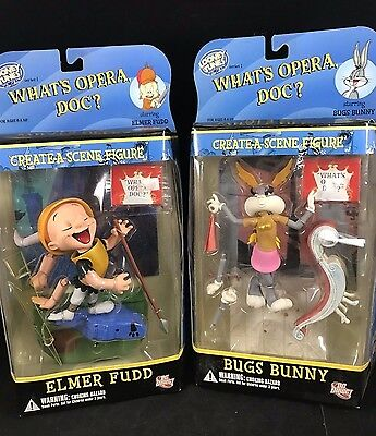 Looney Tunes Create-A-Scene Figure Set What's Opera Doc? Bugs Bunny Elmer Fudd 2