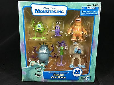 """Disney Monsters Inc """"We Scare Because We Care"""" Figure Gift Pack 2001 Hasbro Toy"""
