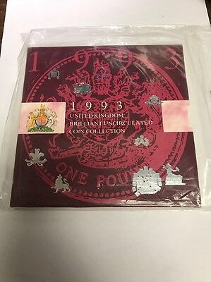1993 United Kingdom Brilliant Uncirculated Coin Collection Sealed!!