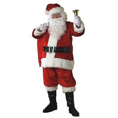 Rubie's Regal Plush Santa Claus Christmas Suit Adult Mens Costume, XX-Large