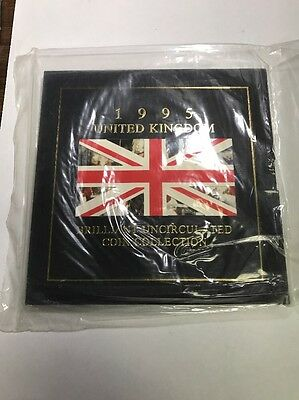 1995 United Kingdom Brilliant Uncirculated Coin Collection Sealed!!