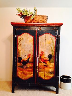 Antique Brazilian Rooster Armoire -- NEWLY PRICED